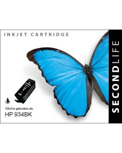 SecondLife - HP 934 XL Black