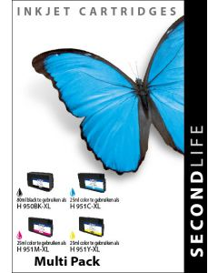 SecondLife - Multipack HP 950 / 951 BK, C, M & Y