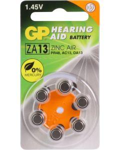 GP Hoorapparaat batterij ZA13, blister 6