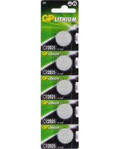 GP Lithium knoopcel CR2025, blister 5