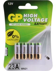GP Hoog voltage alkaline rondcel 23A (MS21 / MN21),blister 4