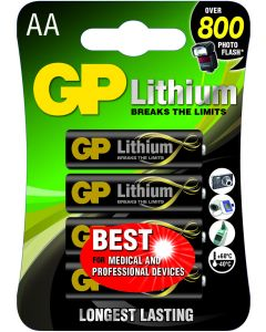 GP Primary Lithium AA, blister 4