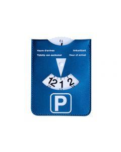 parkeerschijf Kangaro in blauwe kunstlederen houder