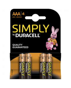 Duracell Simply Alkaline AAA, blister 4