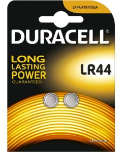 Duracell Alkaline knoopcel LR44, blister 2