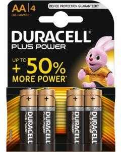 Duracell Plus Power Duralock Alkaline AA, blister 4