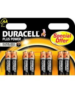 Duracell Plus Power Duralock Alkaline AA, blister 8