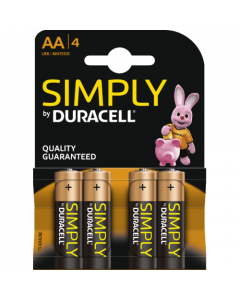 Duracell Simply Alkaline AA, blister 4