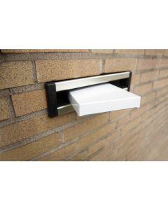 brievenbusdoos Raadhuis 255x165x28mm wit 650grs - 4 stuks