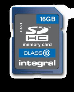 16GB Integral SDHC card - class 10 (80MB/s)