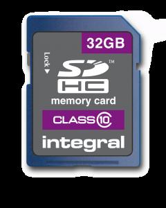 32GB Integral SDHC card - class 10 (80MB/s)