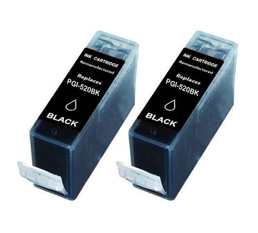 Huismerk Duopack Canon PGI 520 zwart