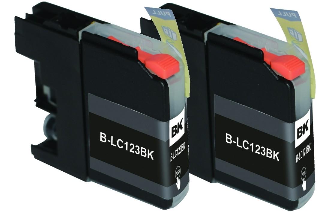 Huismerk Duopack Brother LC-121 / LC-123 zwart