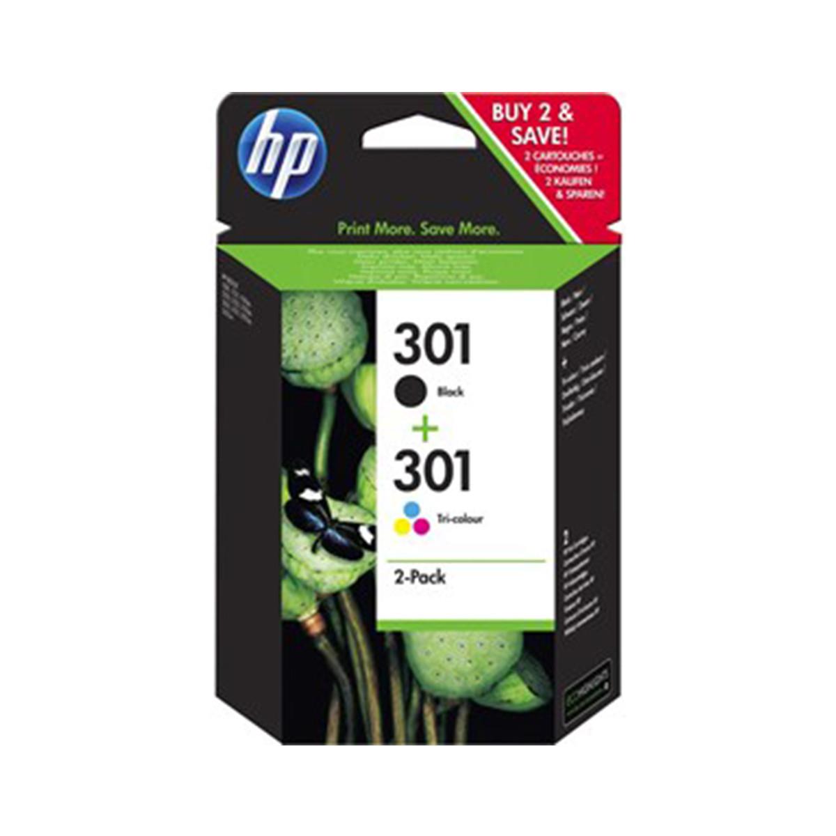 HP Voordeelset 301 BK & kleuren (origineel)